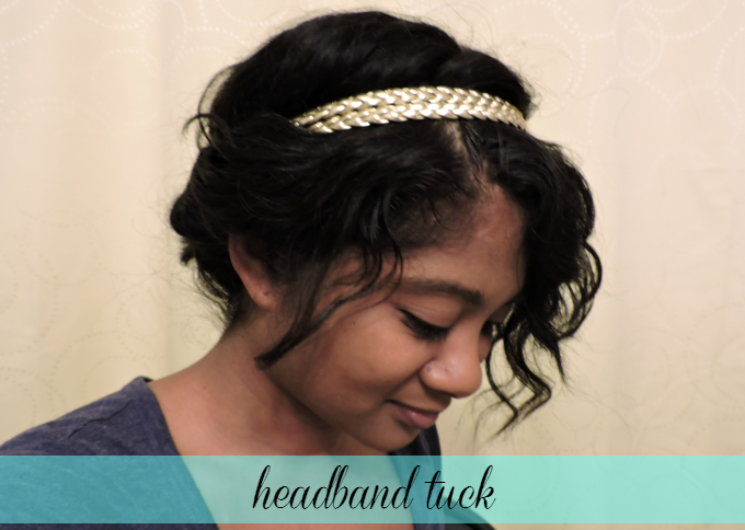headband tuck tutorial