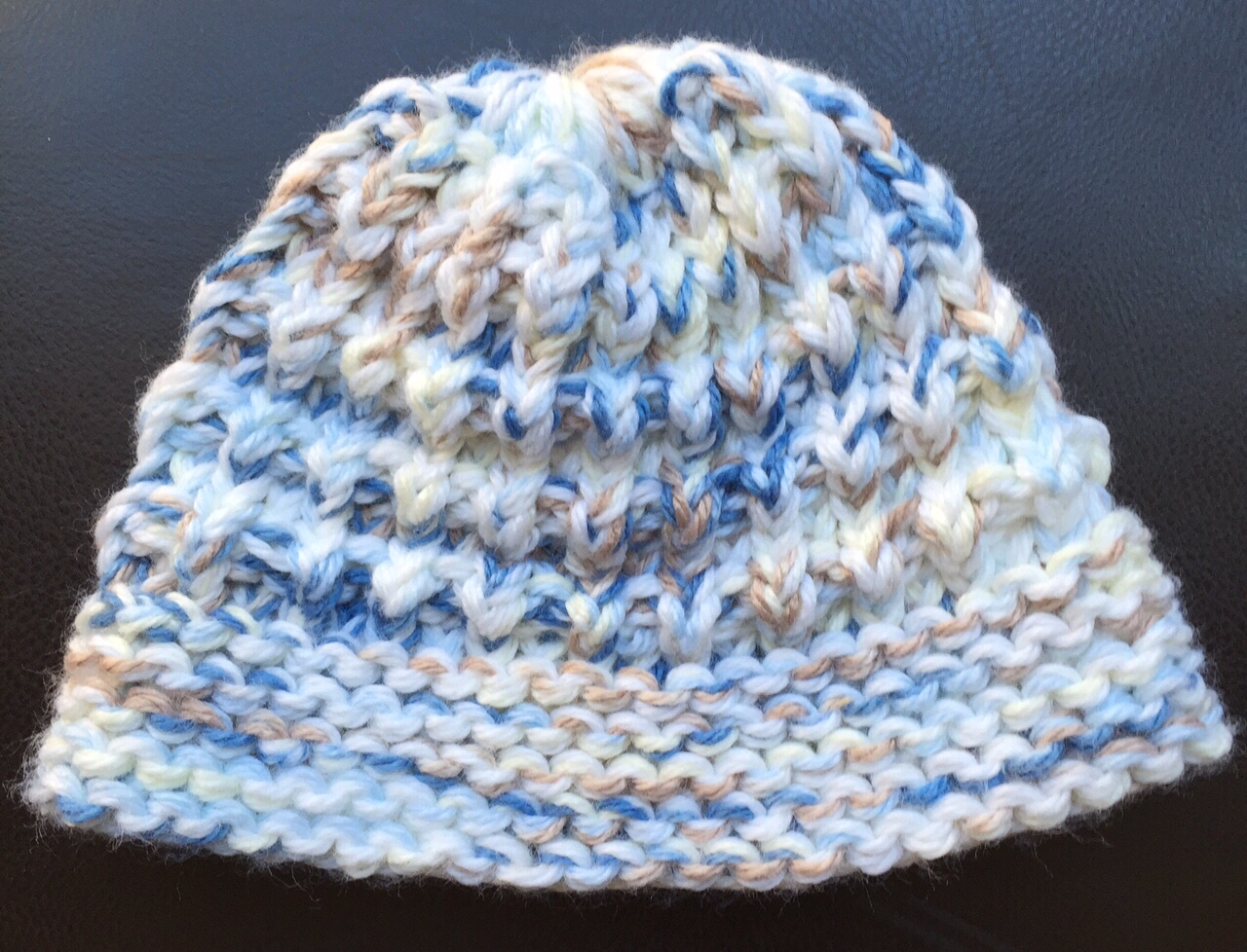 Loom Knit Baby Hat With Brim : Knitting with looms baby hat and blanket
