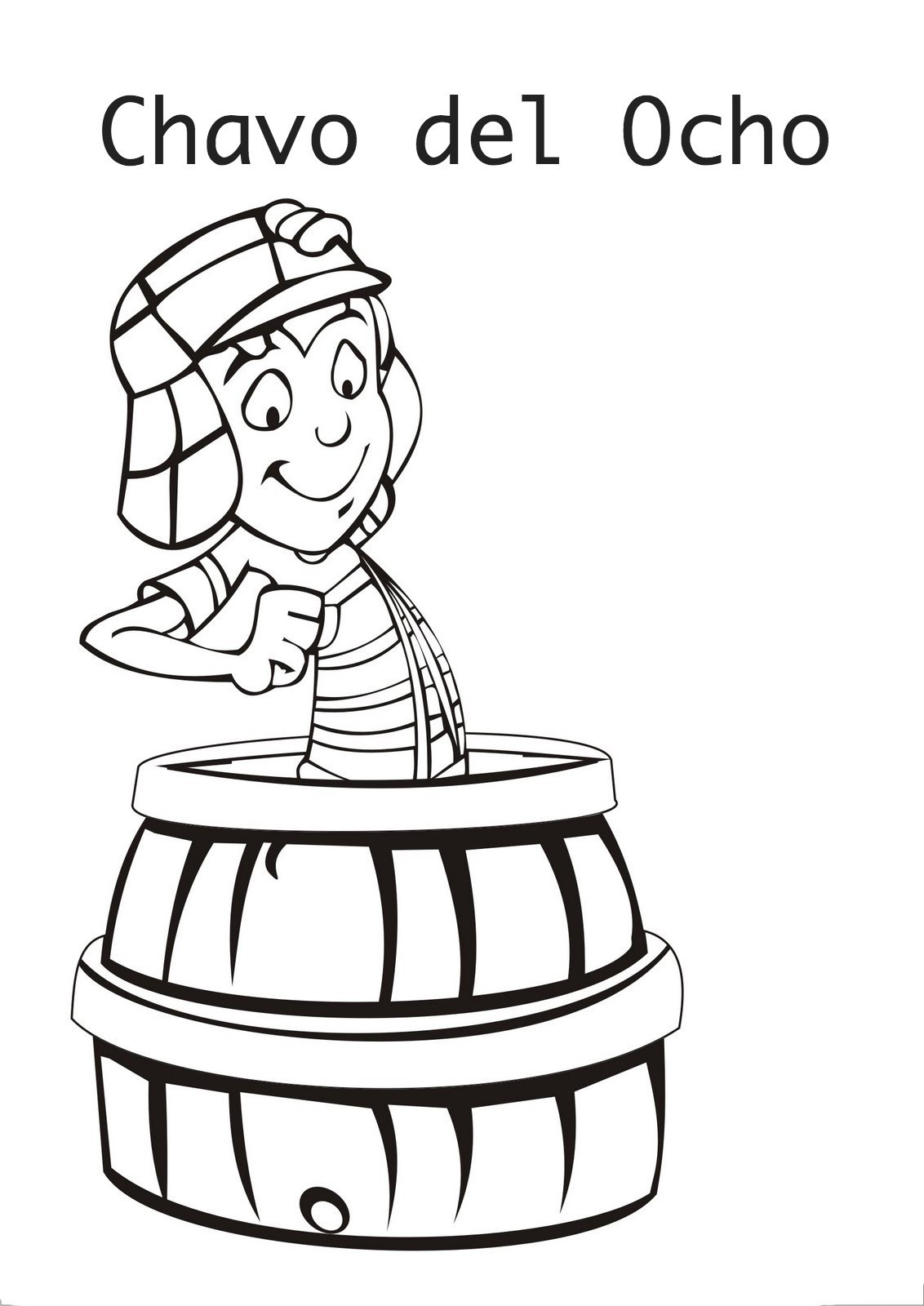 Clip Art El Chavo Del Ocho Coloring Pages coloring pages april 2016 chavo del ocho chavo
