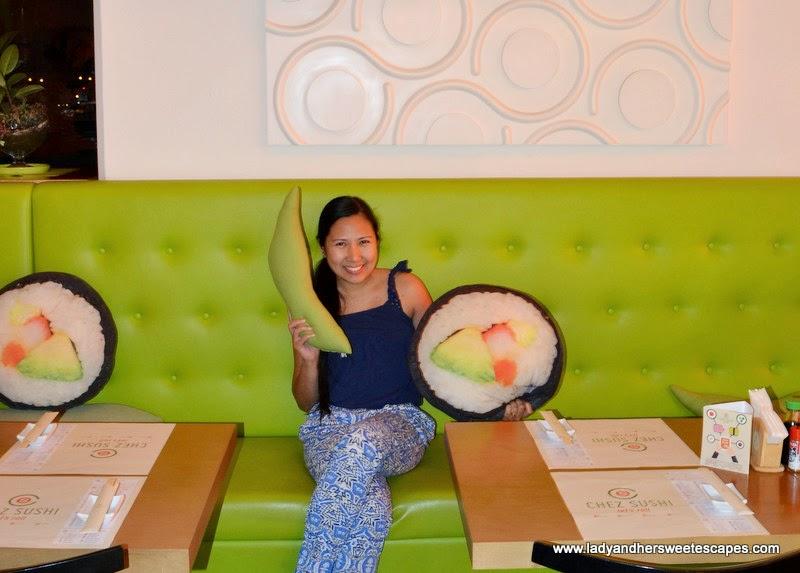 Lady at Chez Sushi Dubai Marina