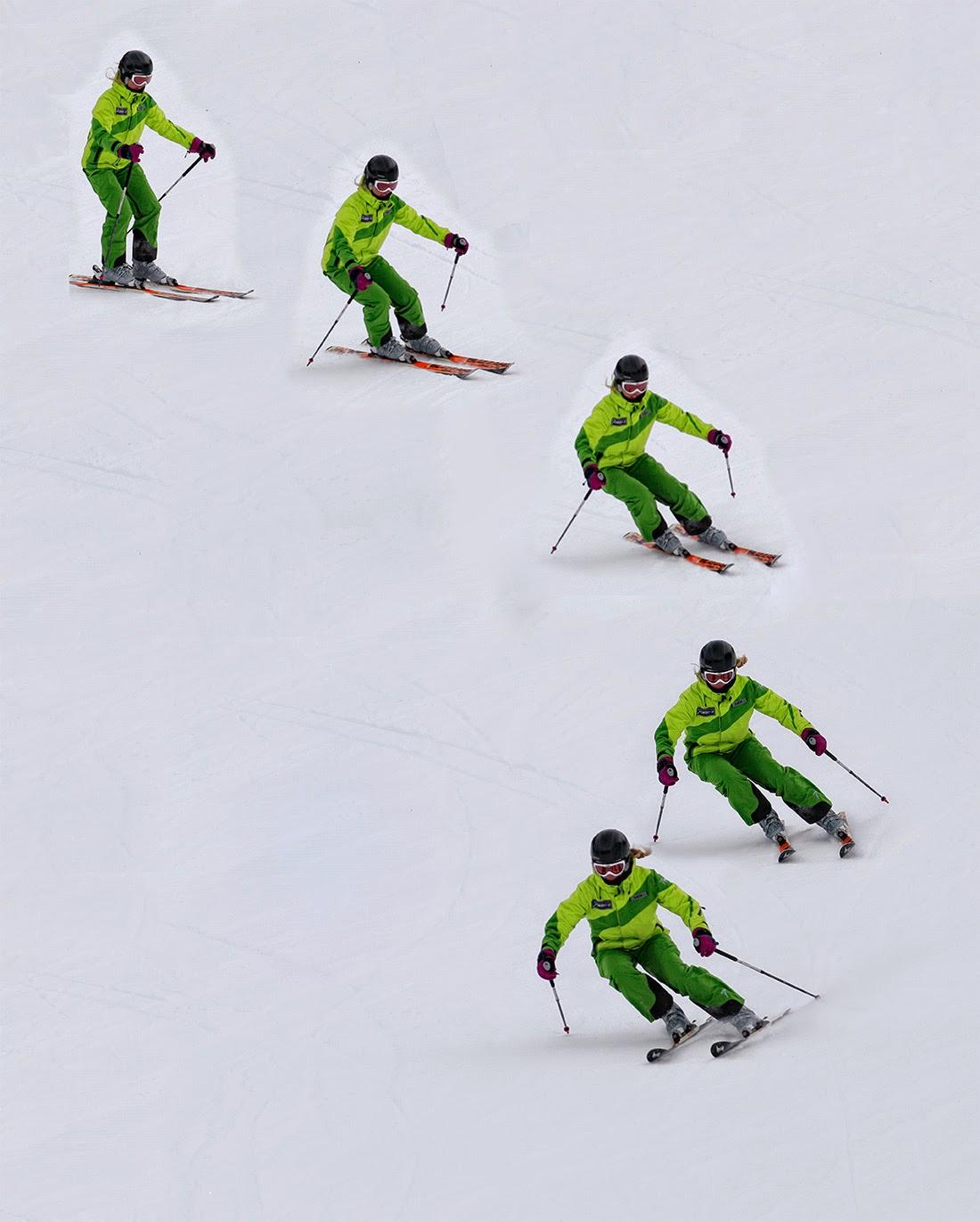 Online Škola skijanja carving kanting talierung