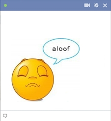 Aloof Facebook smiley