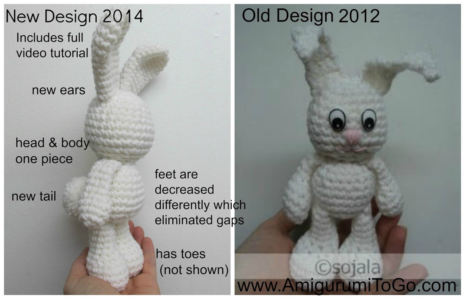 Amigurumi To Go Bigfoot Bunny : Redesigning Little Bigfoots ~ Amigurumi To Go