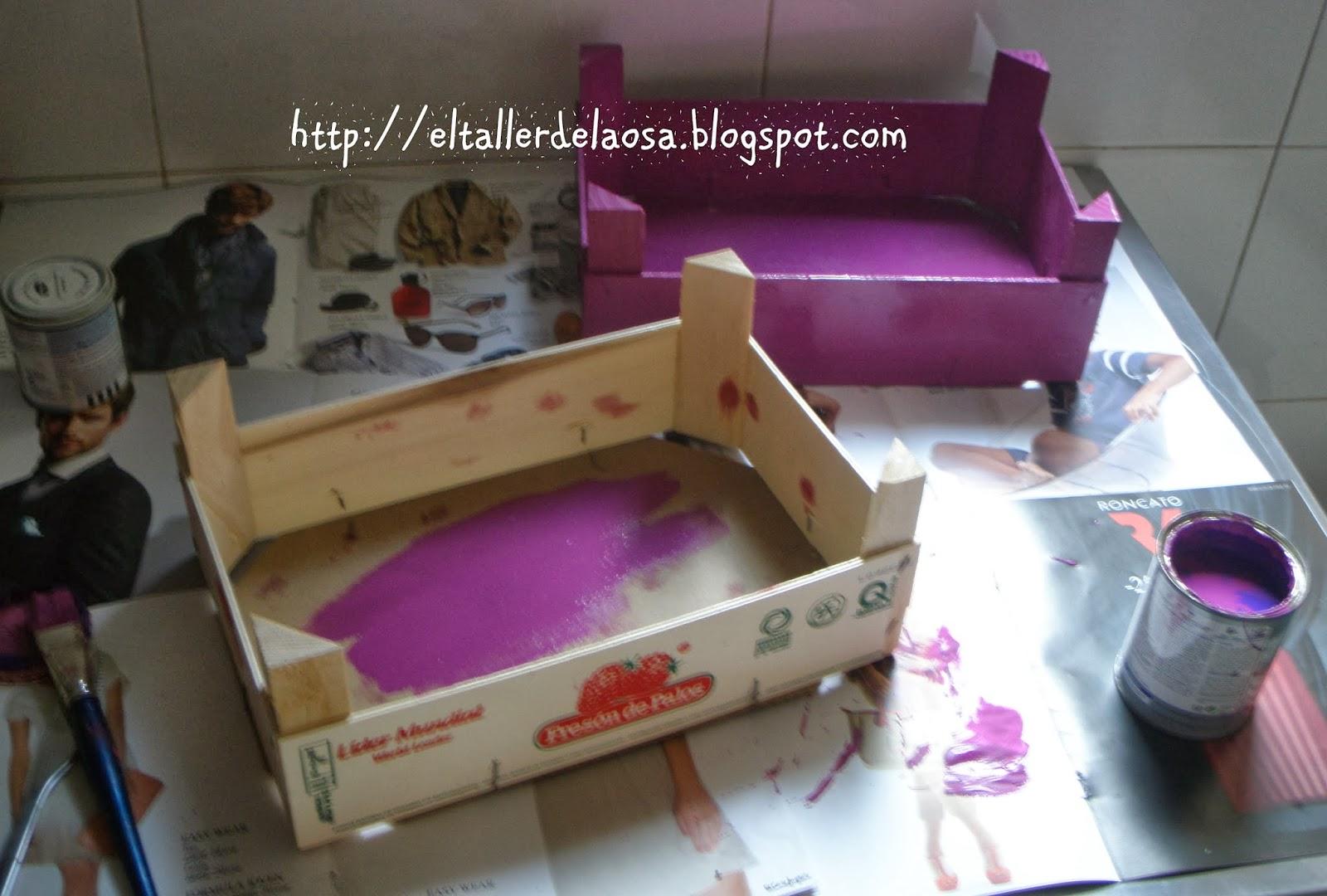 El taller de la osa tutorial para hacer un expositor - Chinchetas para tapizar ...