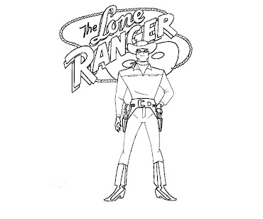 #4 The Lone Ranger Coloring Page