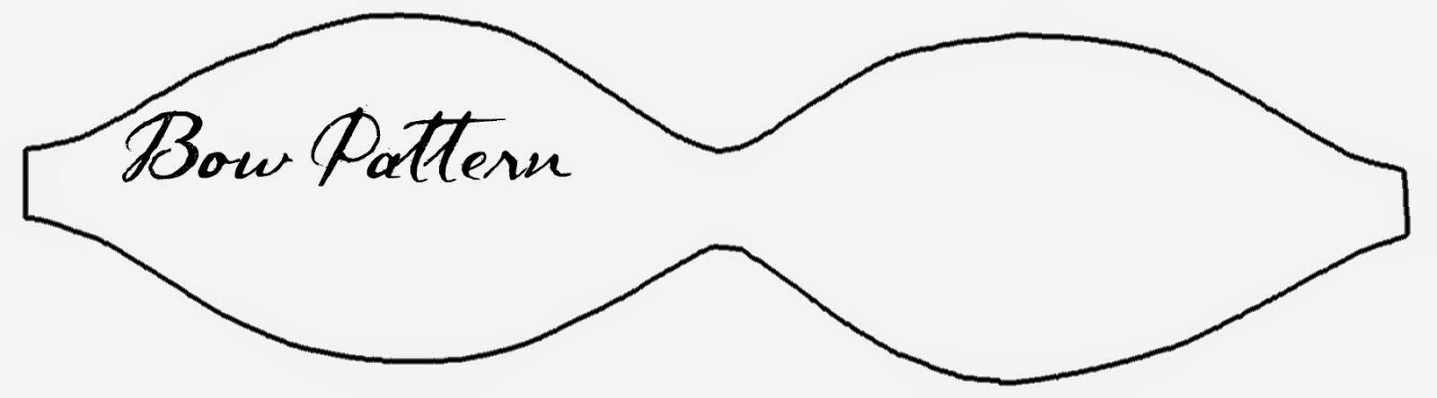 Printable Bow Tie Template  Elioleracom