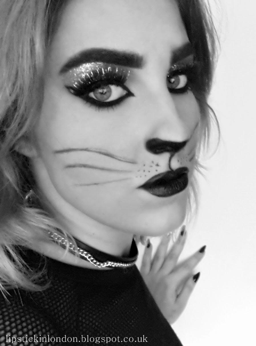 white cat halloween makeup