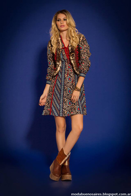 Sophya vestidos cortos invierno 2014. Moda invierno 2014.