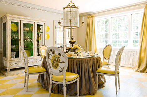 Meghan Blum- Living In Style: A Yellow Filled Dining Room