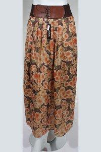 Rok Flower RF 012 - Coklat (Toko Jilbab dan Busana Muslimah Terbaru)