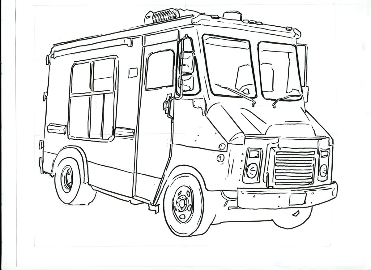 ice cream truck coloring pagesice cream truck coloring pages