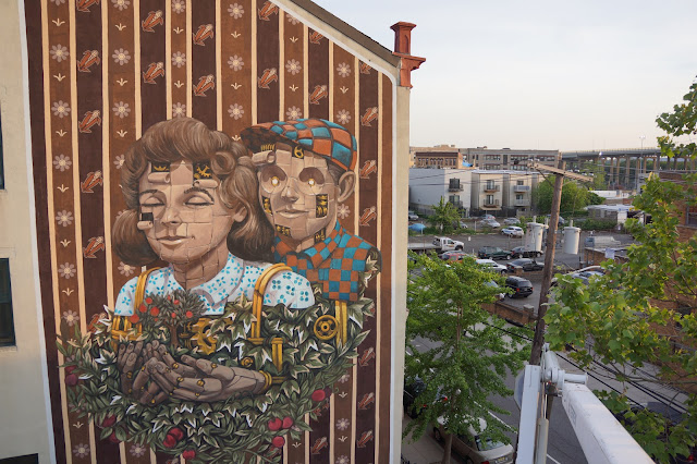 After a beautiful mural in North Africa, Pixel Pancho flew straight to North America where he was invited to paint a large building.