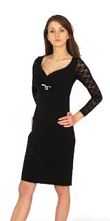 Vestidos de manga larga Negro