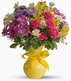 Sends the Teleflora Color It happy Bouquet
