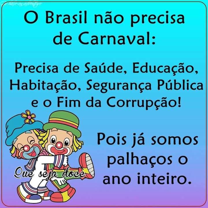 QUEREMOS JUSTIÇA E UM BRASIL MELHOR!