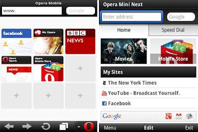 kelebihan dan fitur terbaru Opera Mini 7, download browser opera mini 7