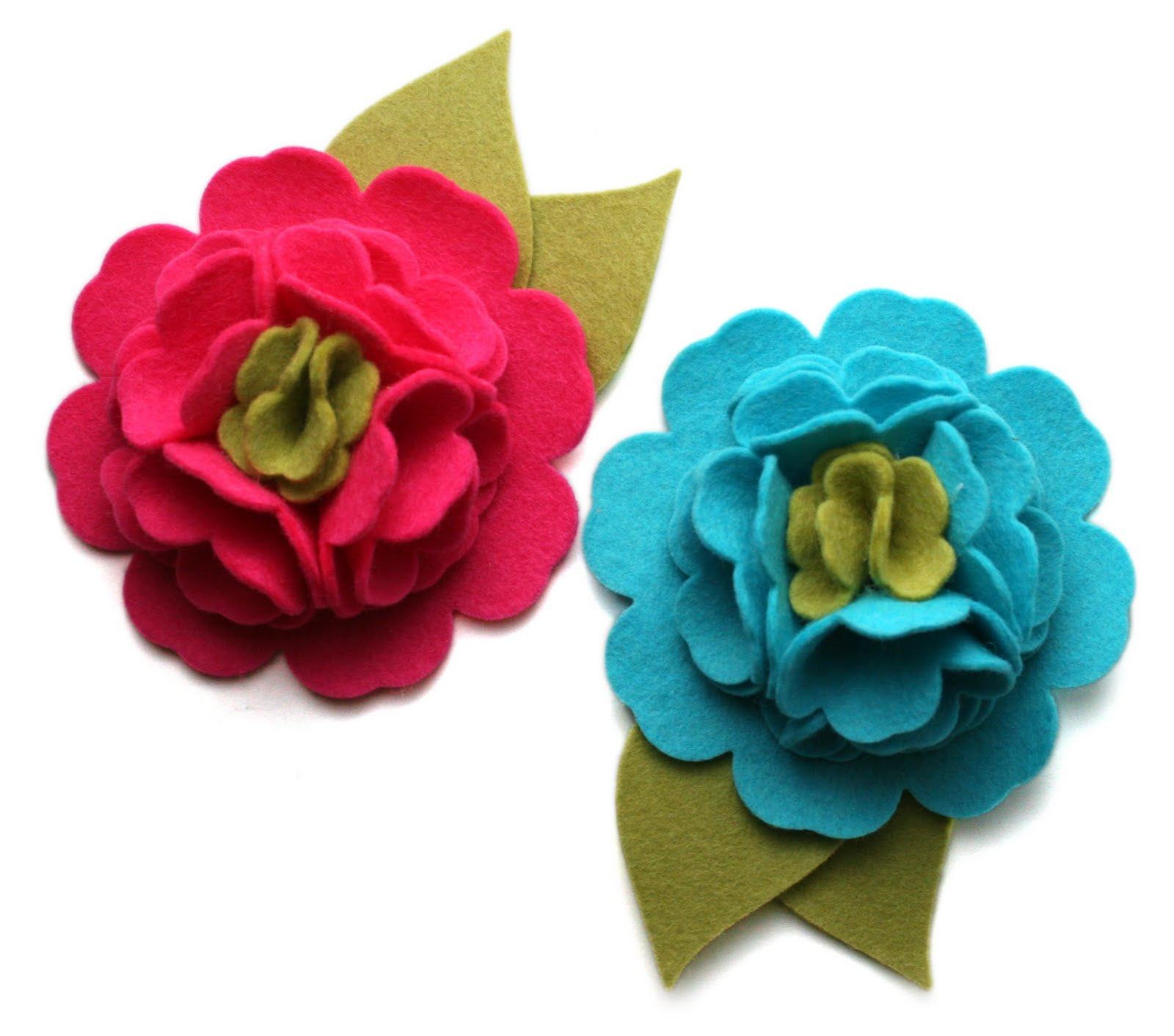 Sprinkled With Glitter Nesting Blossoms Felt Flower Tutorial