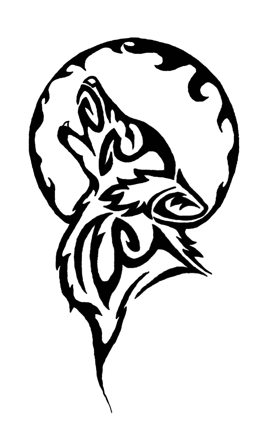 Wolf best tribal tattoo meaning gae imagenes for Images of tribal tattoos