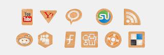 wood social icons