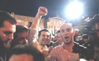 Grécia; Sparta; Greek; Spartakus; Alexis Tsipras; Lider do Syriza; Festa; Vitória Povo; Grego