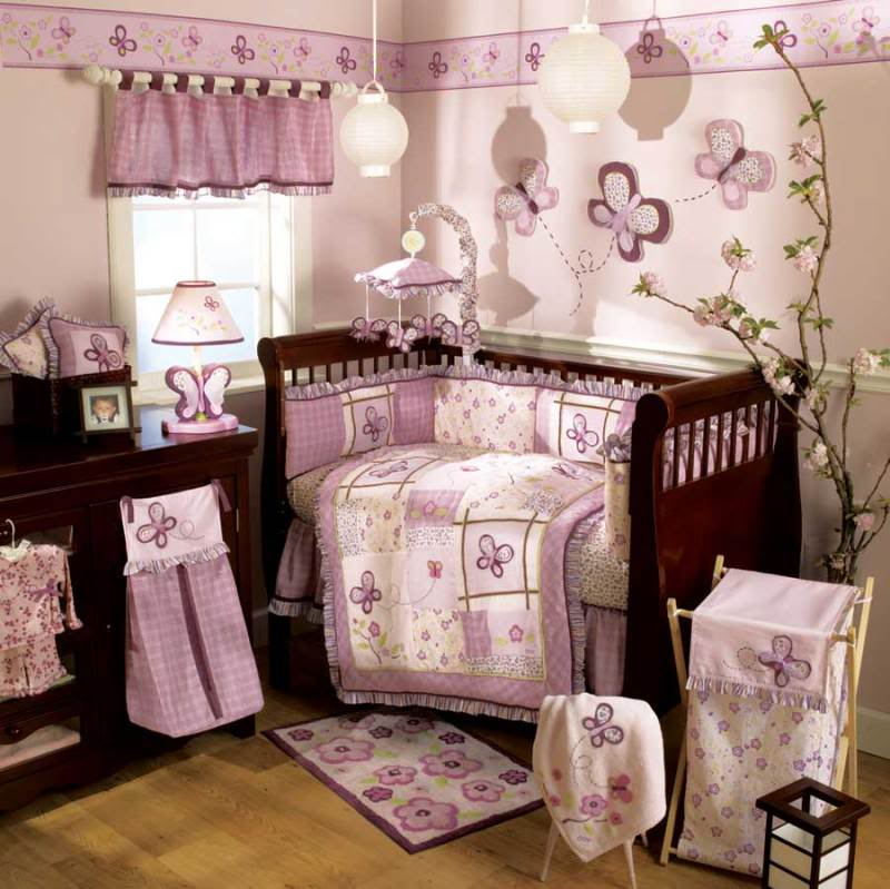 baby girl nursery room themes ideas