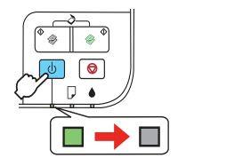 По выключении принтера индикатор погаснет