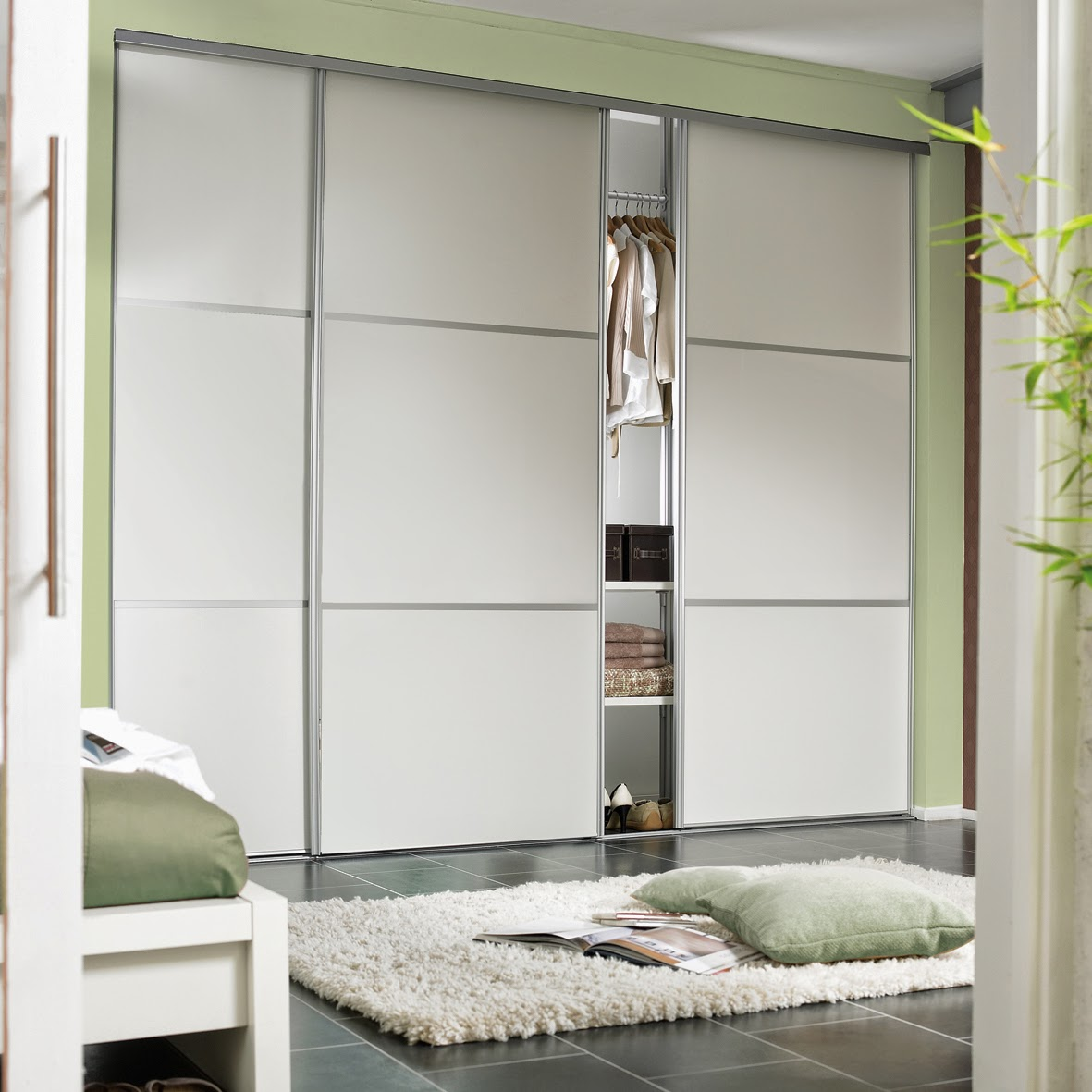Fitting the track and sliding wardrobe doors & Bedrooms Plus Sliding Wardrobe Doors and Fittings: How to Install ...