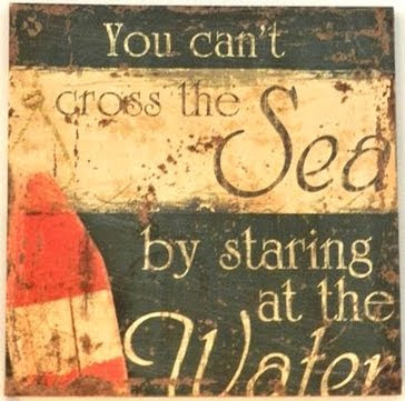 you can't cross the sea by staring at the water