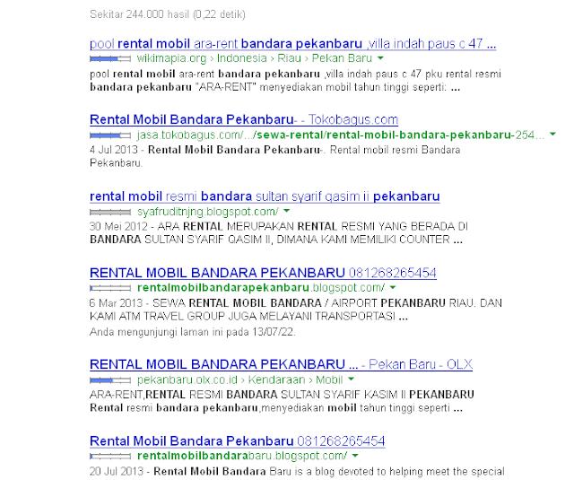 Rental Mobil Bandara Pekanbaru