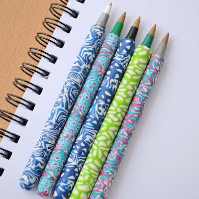 polymer covered pens tutorial by Creative in Chicago