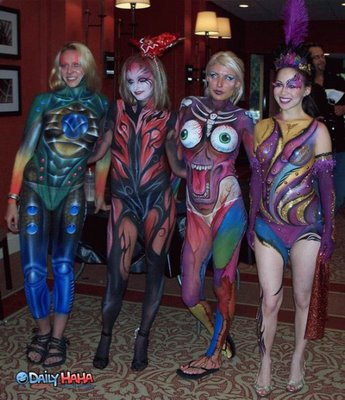 full body paint like a monster