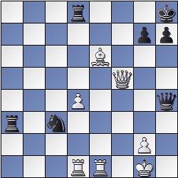 Posición de la partida de ajedrez Rey Ardid-Tartakover después de 27…Cxc3