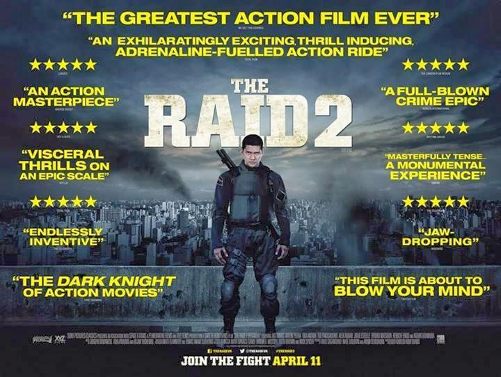 Official Poster Inggris: The Raid 2 Berandal