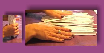 Como hacer varitas de papel