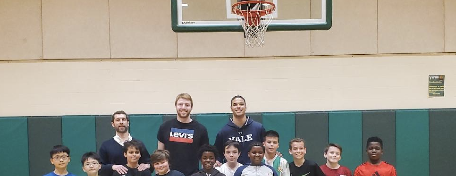 WHBA Grades 5-6 Players with Yale Student Athletes