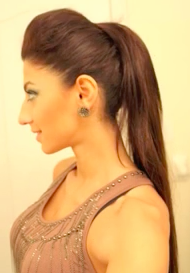 Kim Kardashian Inspired High Ponytail Hairstyle Tutorial Here!