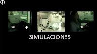 video que muestra como se usan algunos simluadores de vuelo, de autocar, etc...