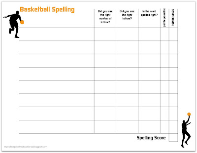 Relentlessly fun deceptively educational spelling and for Basketball practice planner template
