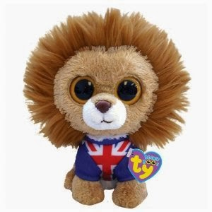 "2012 RELEASE***TY BEANIE BOOS BOO HERO THE UK LION 6"" PLUSH ***NEW***UK EXCL."