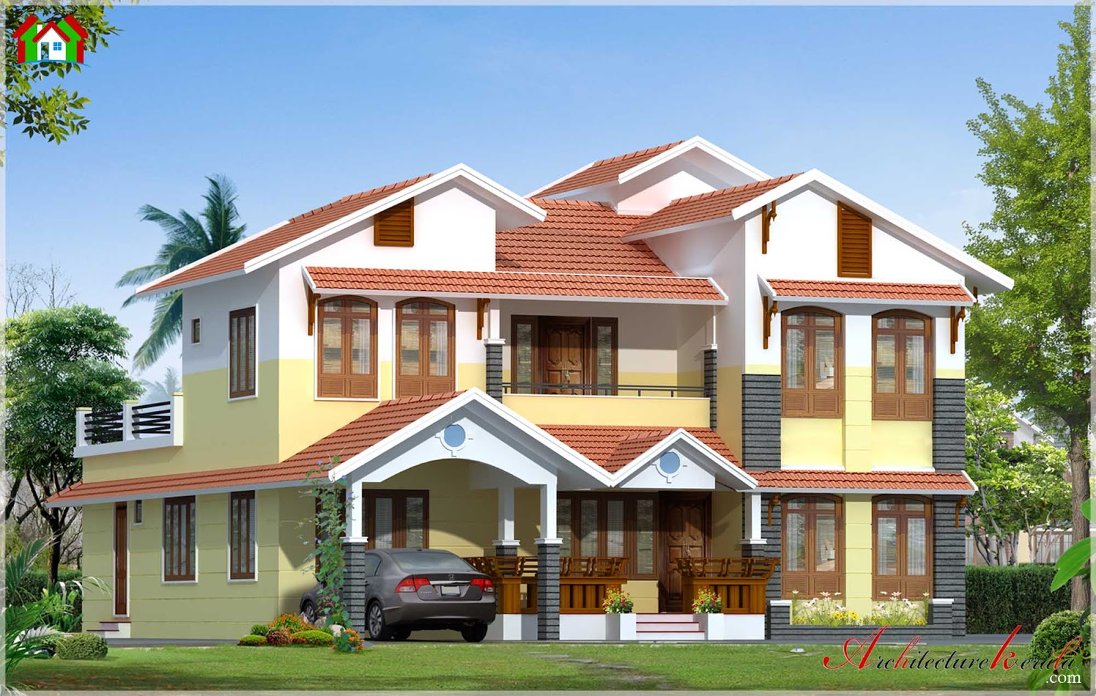 3000 square feet kerala style house elevation for 3000 sq ft house plans kerala style