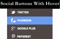 Add Social Buttons With Hover Effect In Blogger Blog