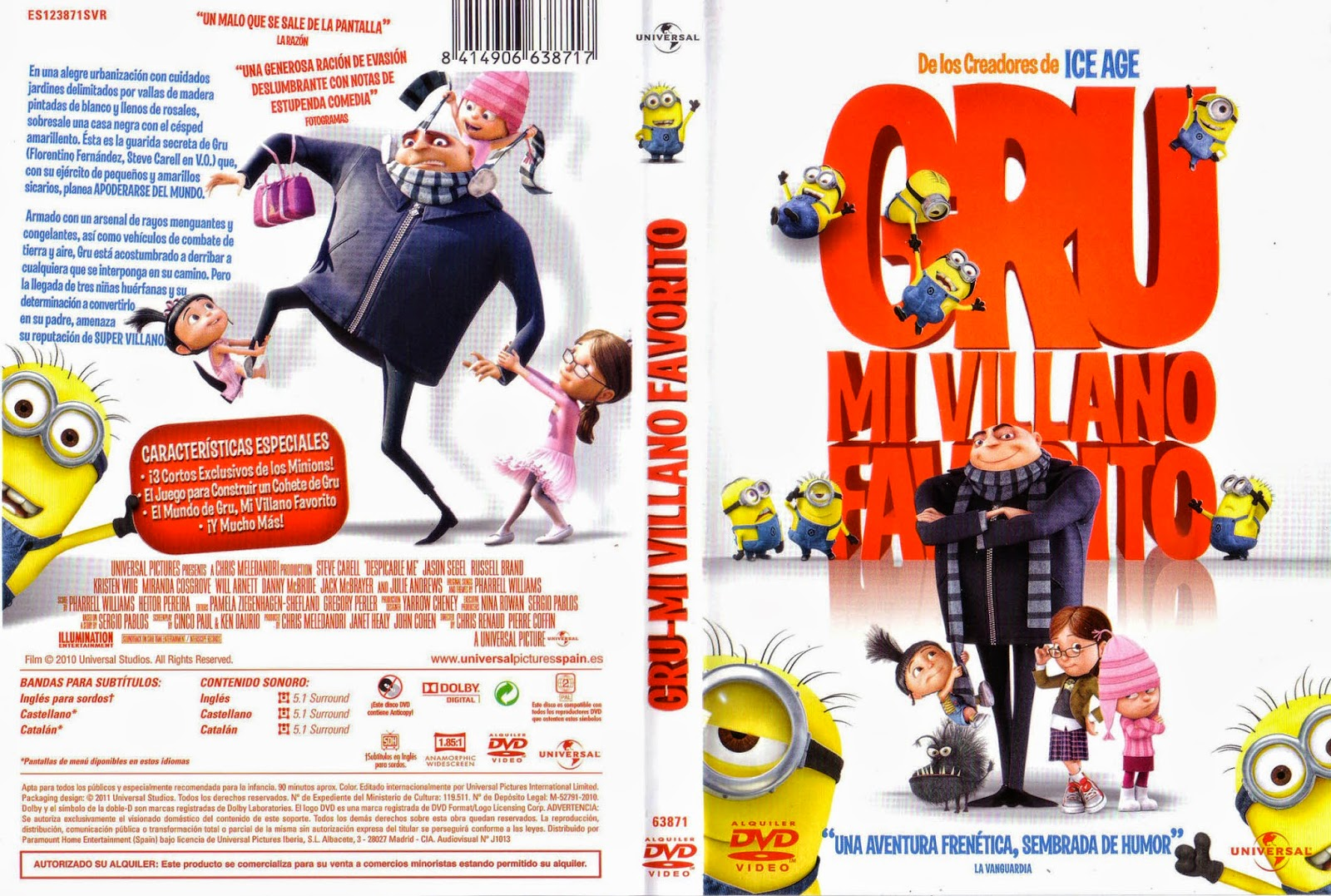 Gru Mi Villano Favorito DVD