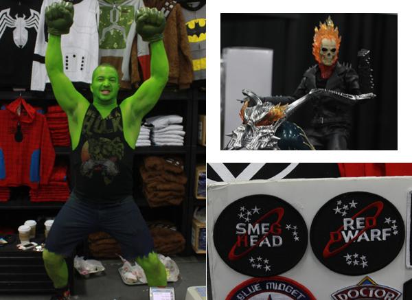 Hulk, Red Drawf, Ghost Rider