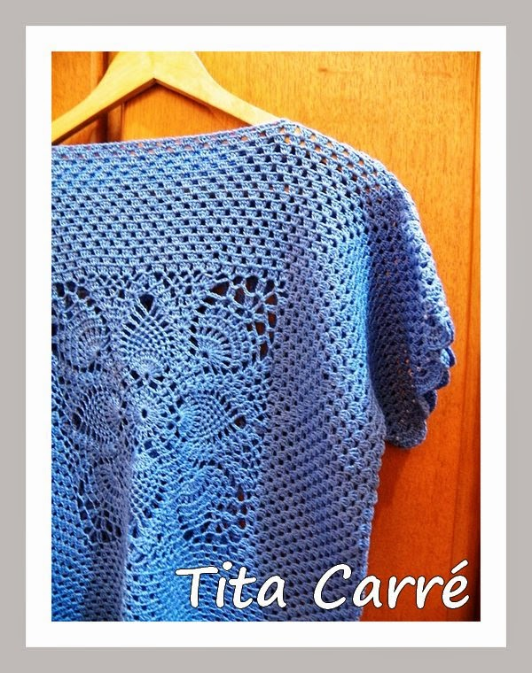 Blusa Big Square em Abacaxi\Pineapple Blue