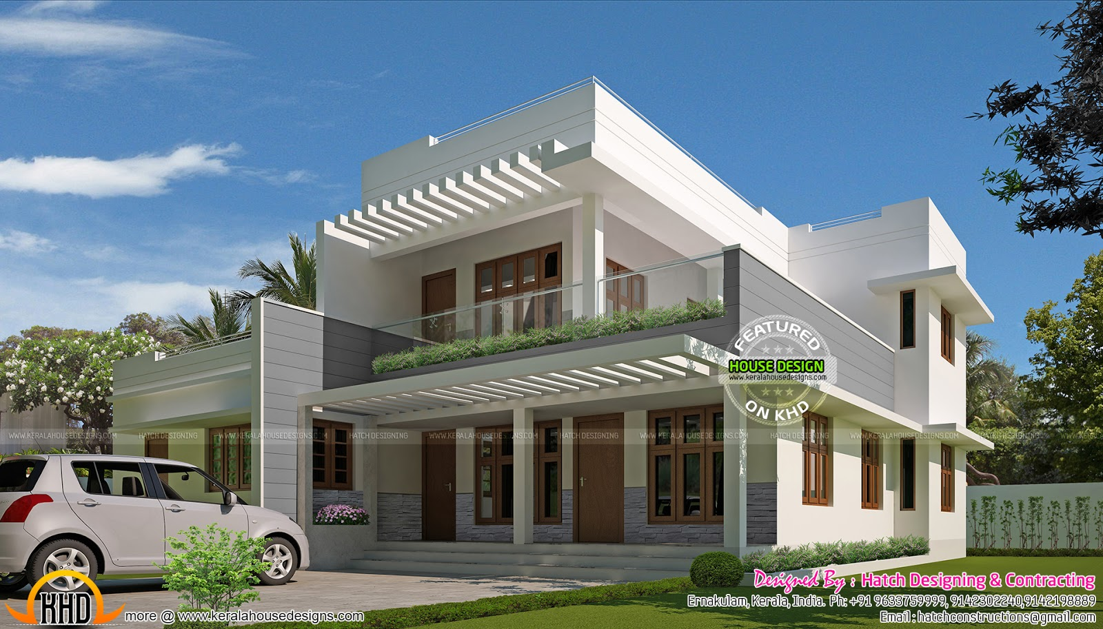 Contemporary Mix 5 Bedroom House Kerala Home Design And