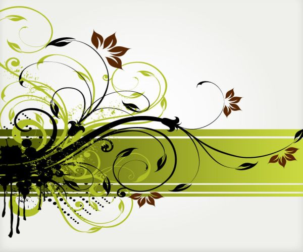 Free Floral Swirl Vector Background