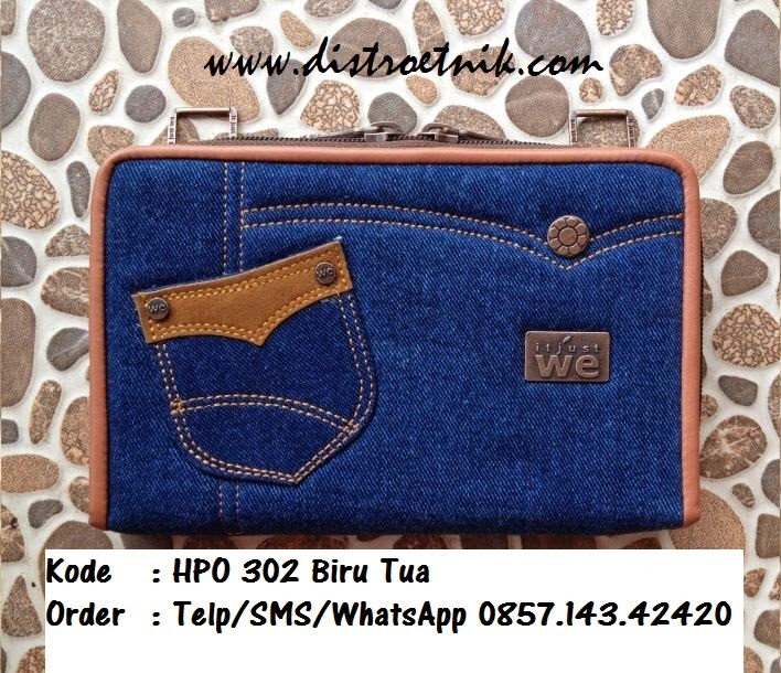 dompet hpo jeans it just we hpo 302 biru tua