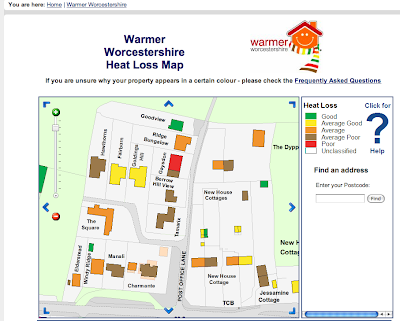 warmer worcestershire home heat loss map