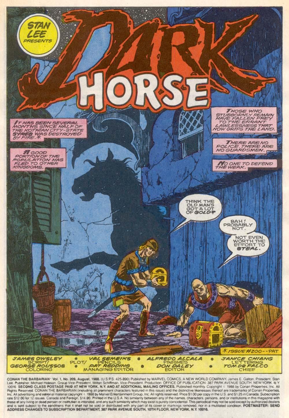 Conan the Barbarian (1970) Issue #209 #221 - English 2