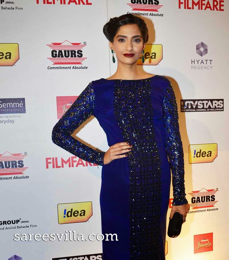 Sonam Kapoor Chic Bun Haristyle